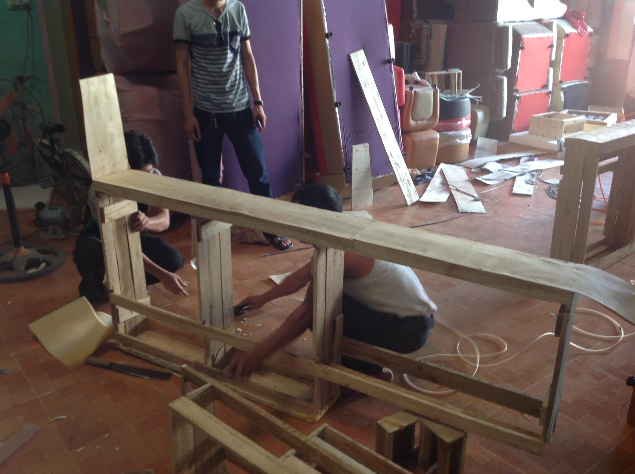 Quy trình sản xuất một bộ sofa phòng khách 3